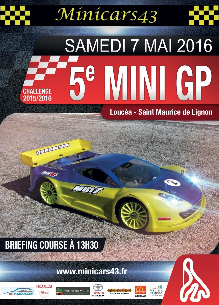 Affiche 5ème Mini GP 2015-16