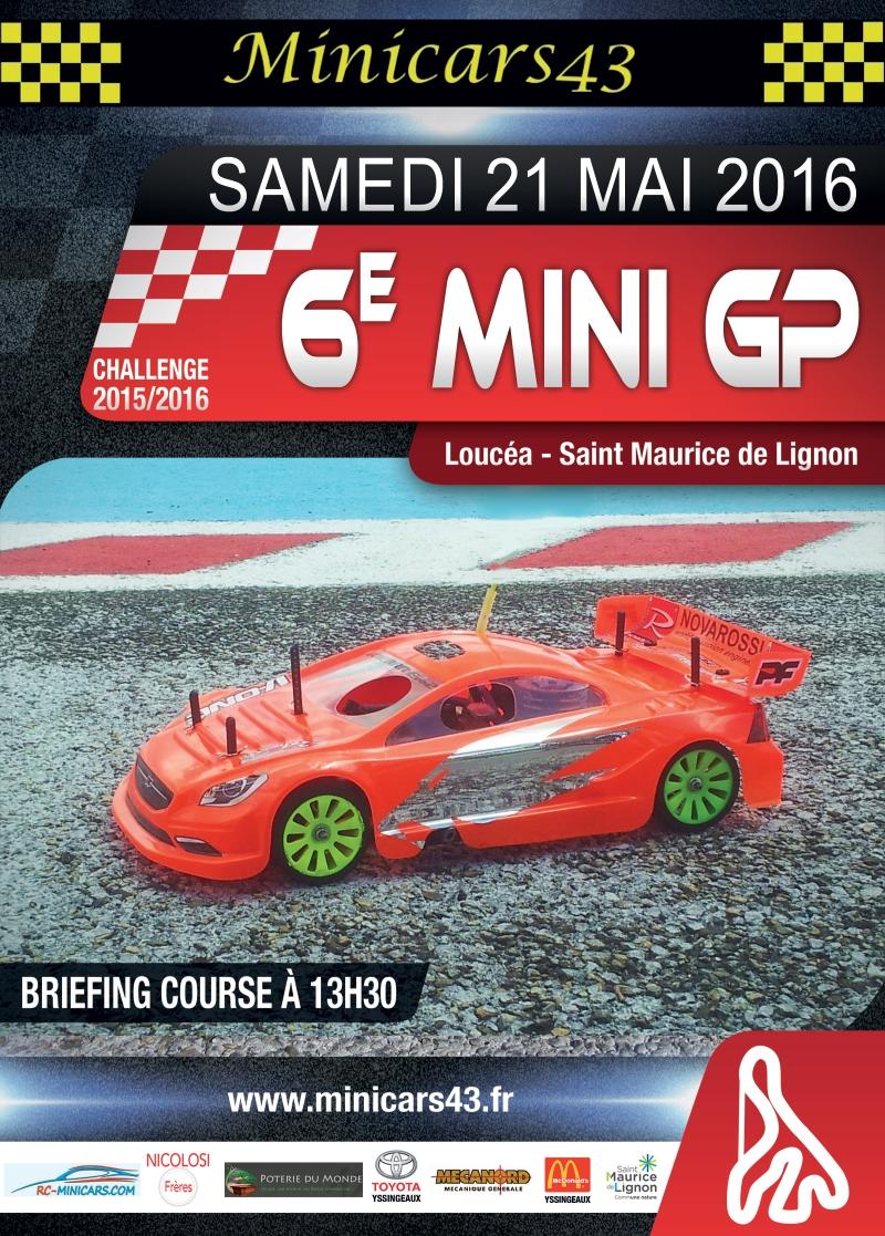 Affiche 6ème Mini GP 2015-16