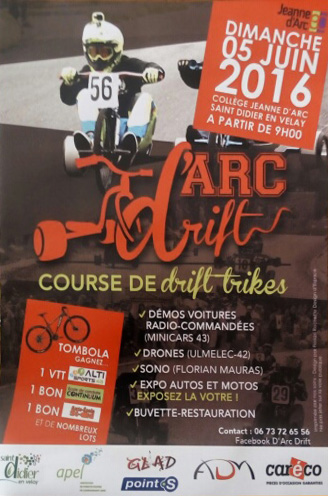 Affiche D'Arc Drift 2016