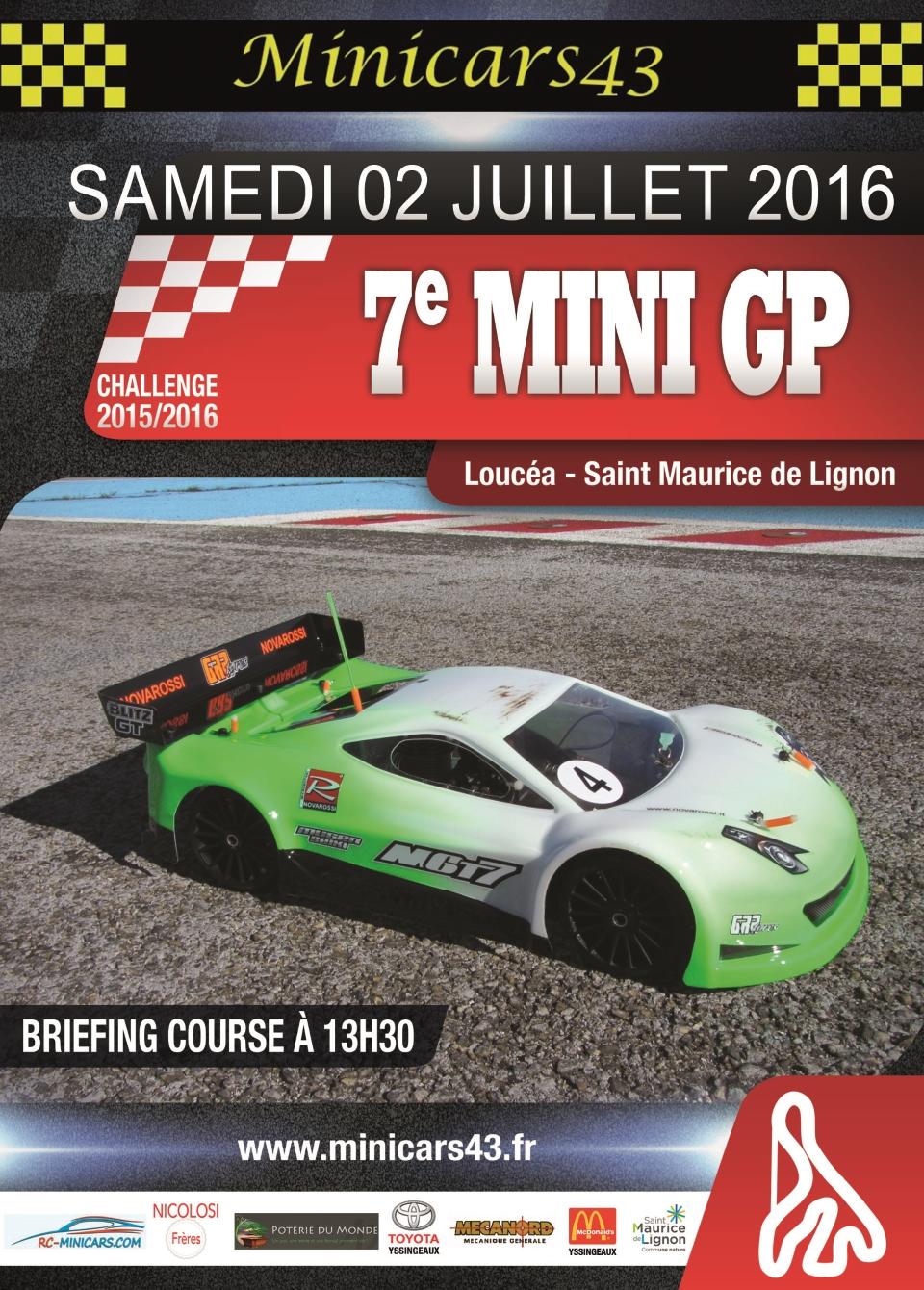Affiche 7ème Mini GP 2015-16
