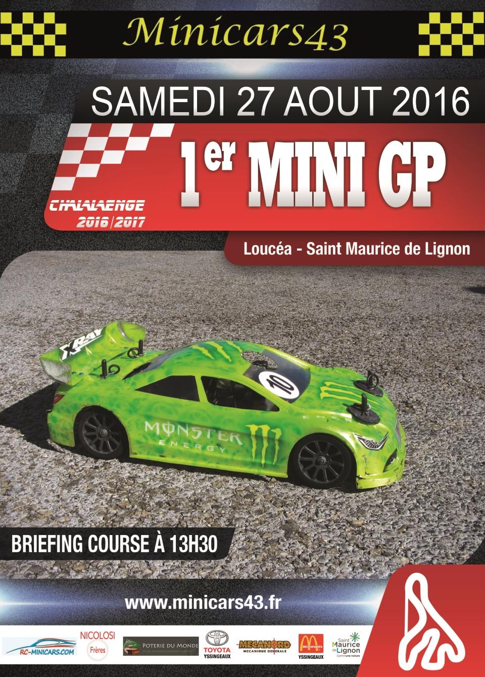 Affiche 1er Mini GP 2016-17