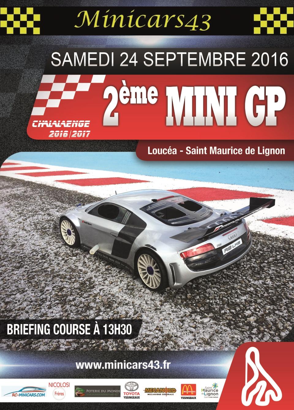 Affiche 2ème Mini GP 2016-17