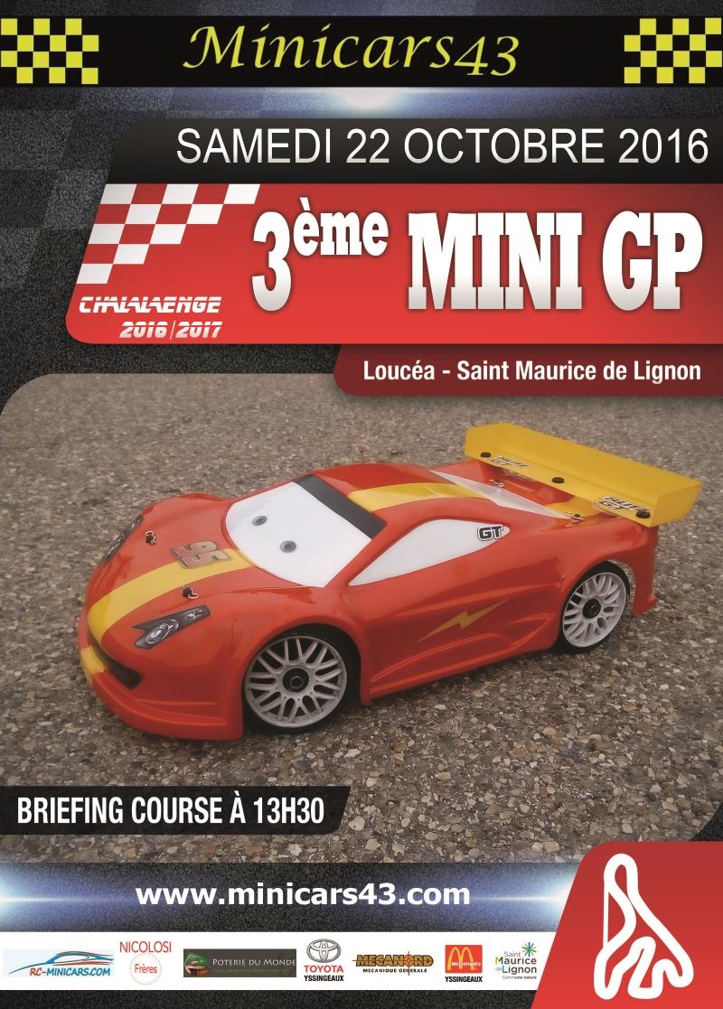 Affiche 3ème Mini GP 2016-17