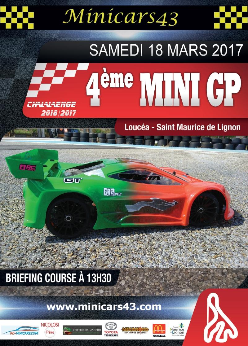 Affiche 4ème Mini GP 2016-17