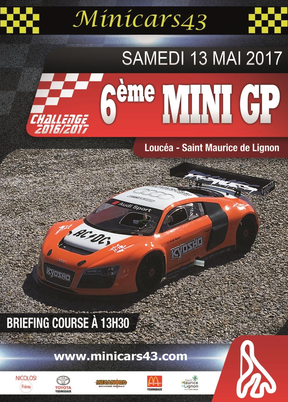 Affiche 6ème Mini GP 2016-17