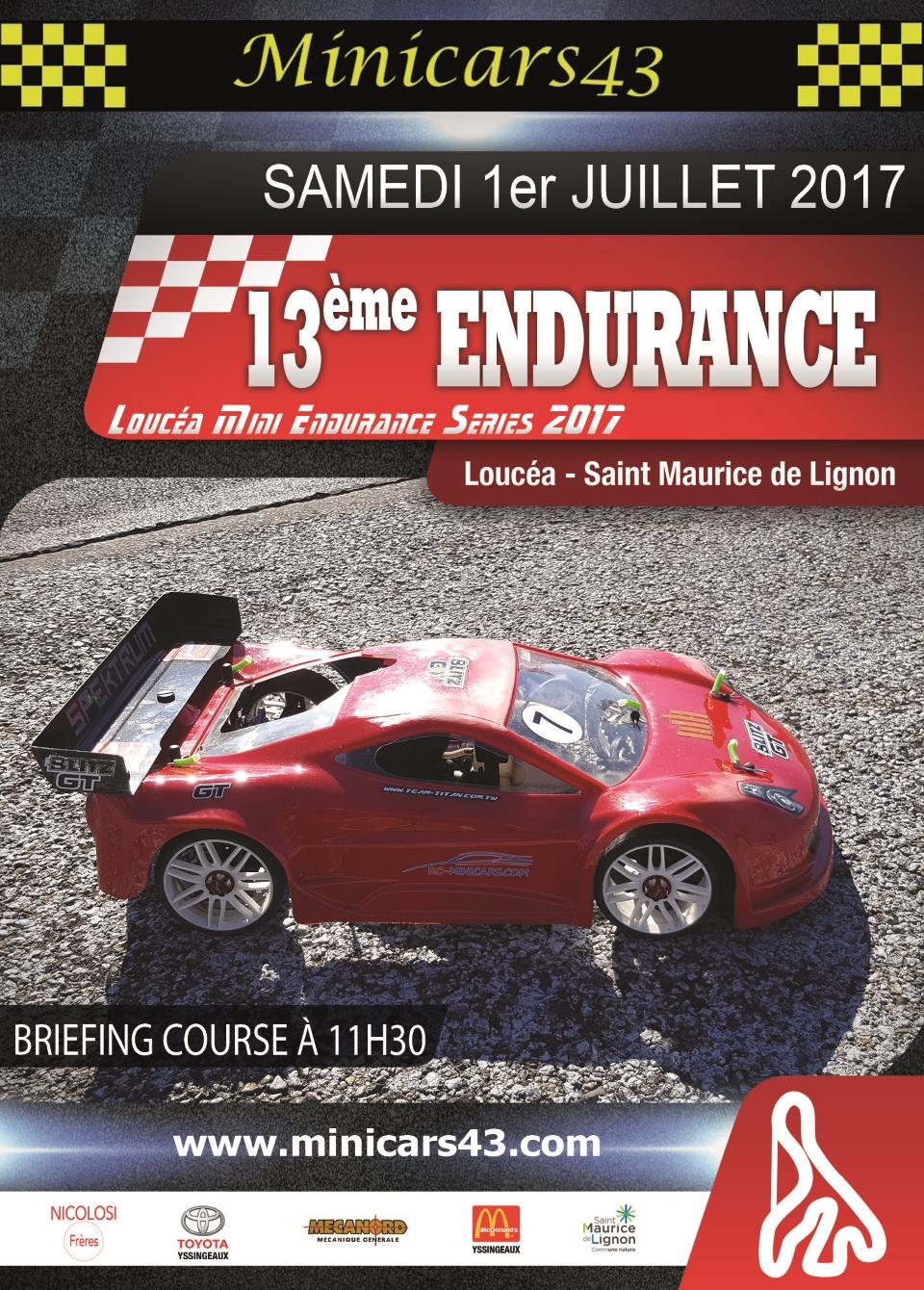 Affiche Endurance 2017
