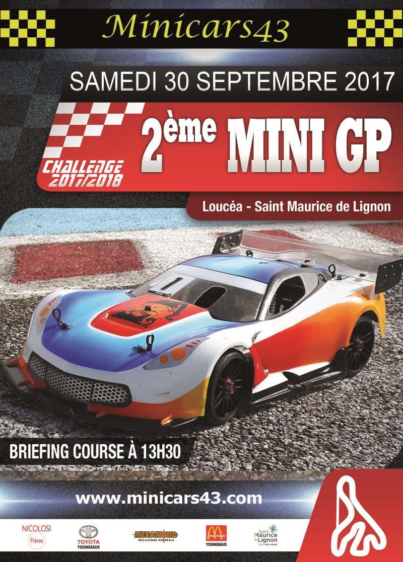 Affiche 2ème Mini GP 2017/2018