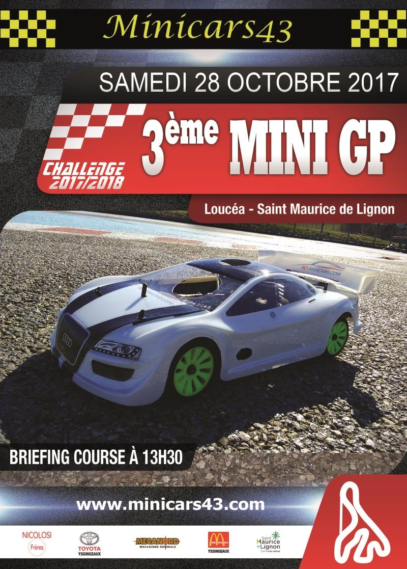 Affiche 3ème Mini GP 2017/2018
