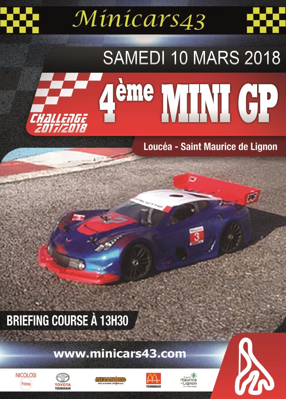 Affiche 4ème Mini GP 2017/2018