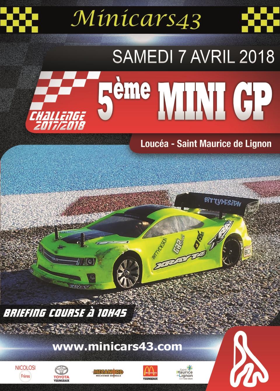 Affiche 5ème Mini GP 2017/2018