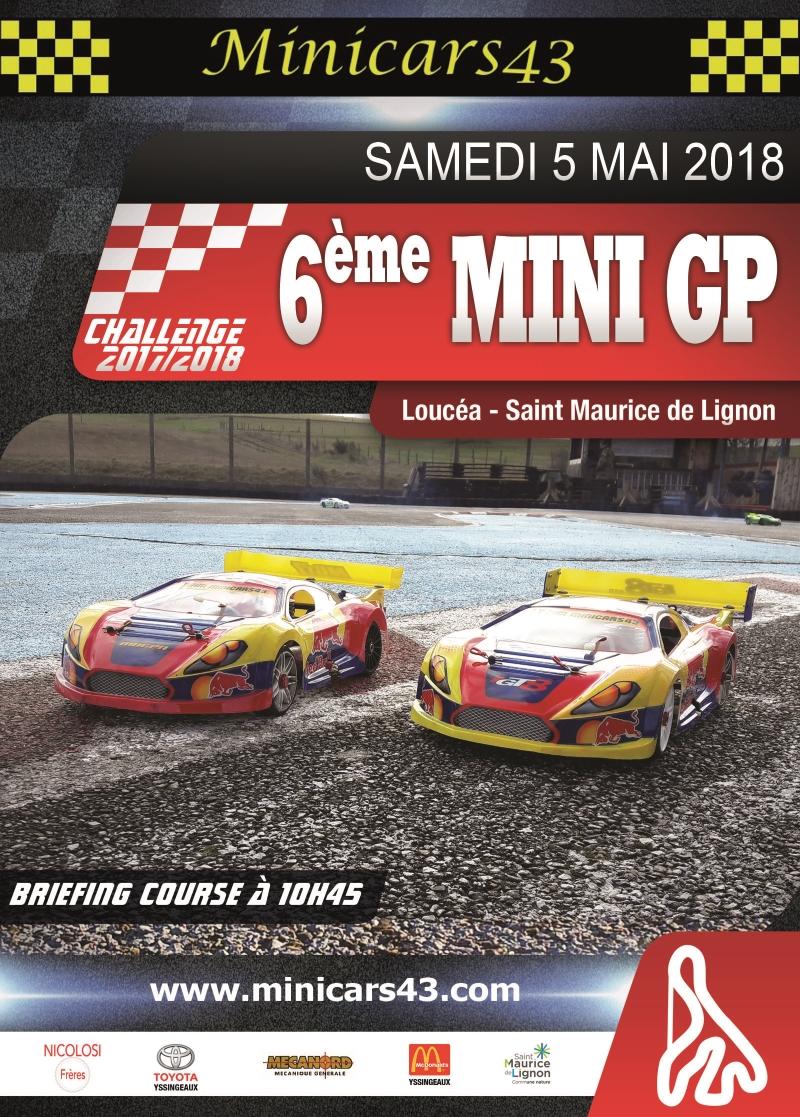 Affiche 6ème Mini GP 2017/2018