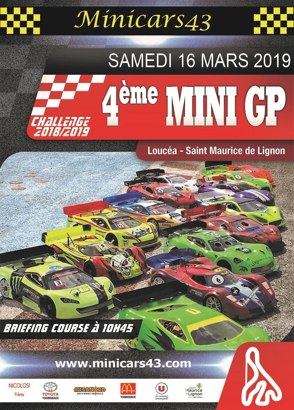Affiche 4ème Mini GP 2018-19