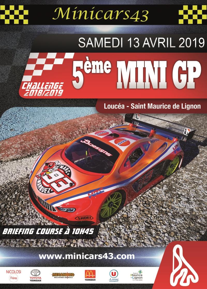 Affiche 5ème Mini GP 2018-19