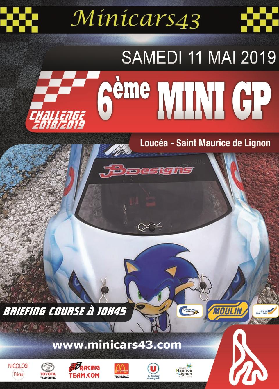 Affiche 6ème Mini GP 2018-19