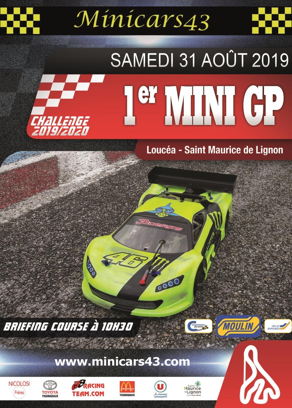 Affiche 1er Mini GP 2019-20