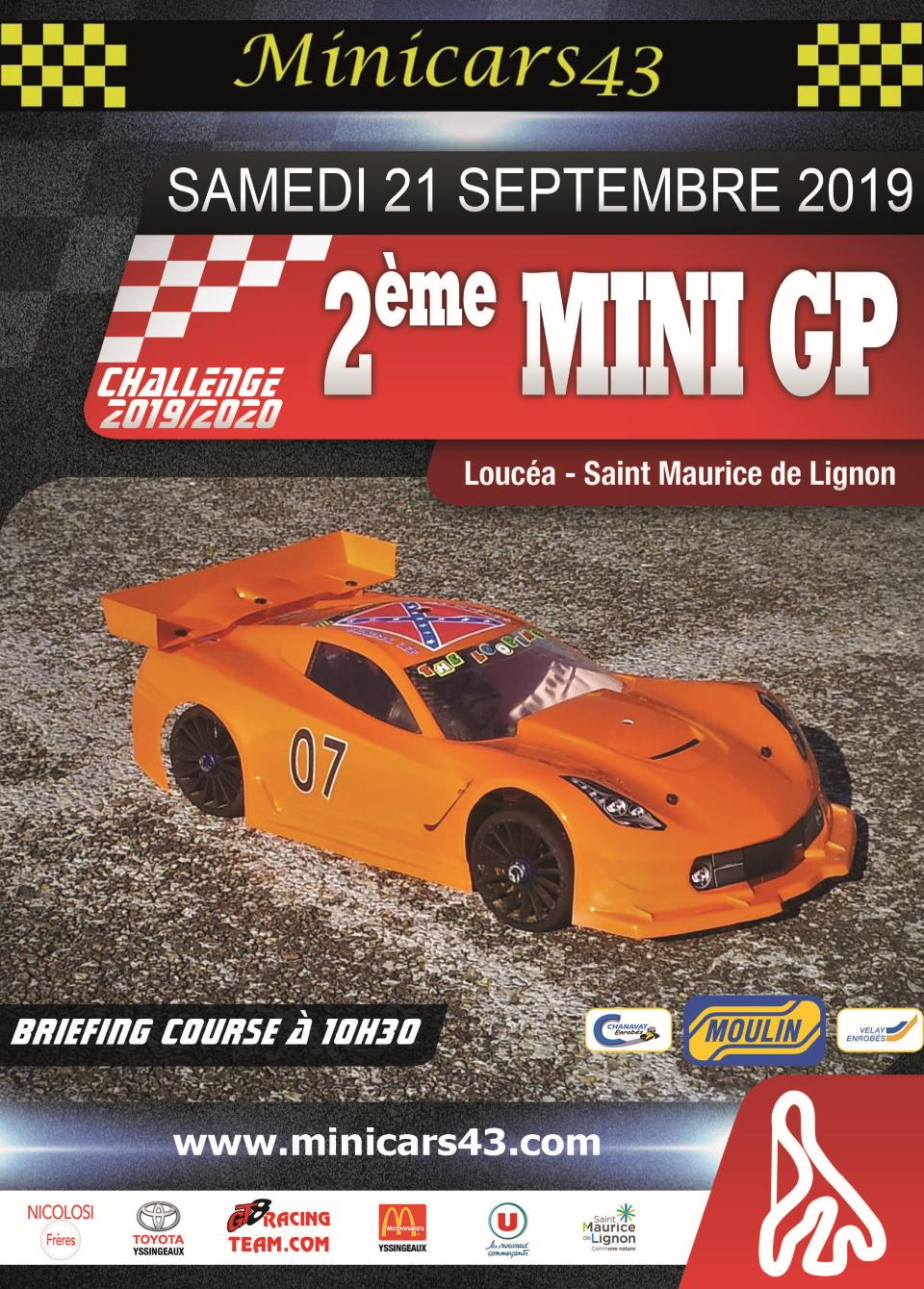 Affiche 2ème Mini GP 2019-20