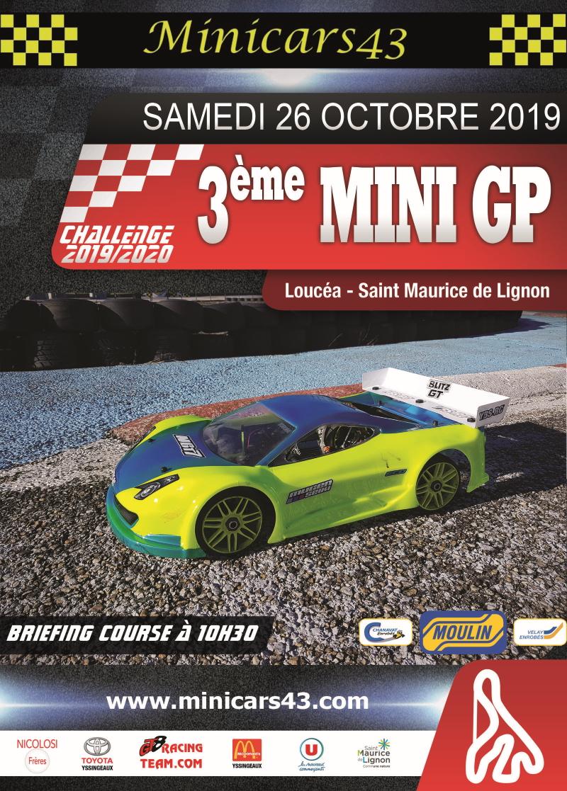 Affiche 3ème Mini GP 2019-20