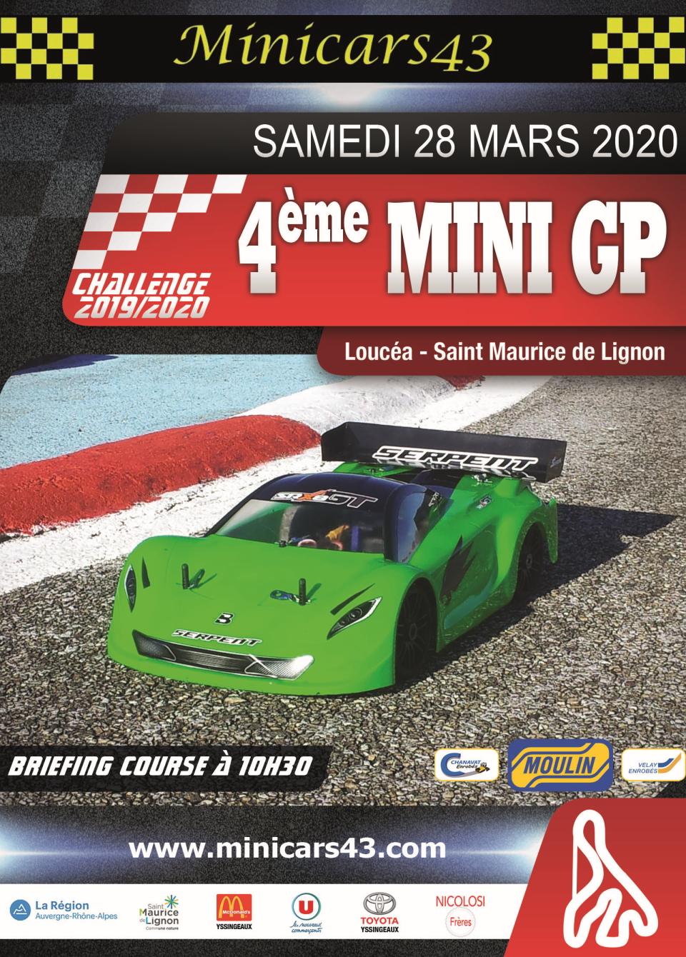 Affiche 4ème Mini GP 2019-20