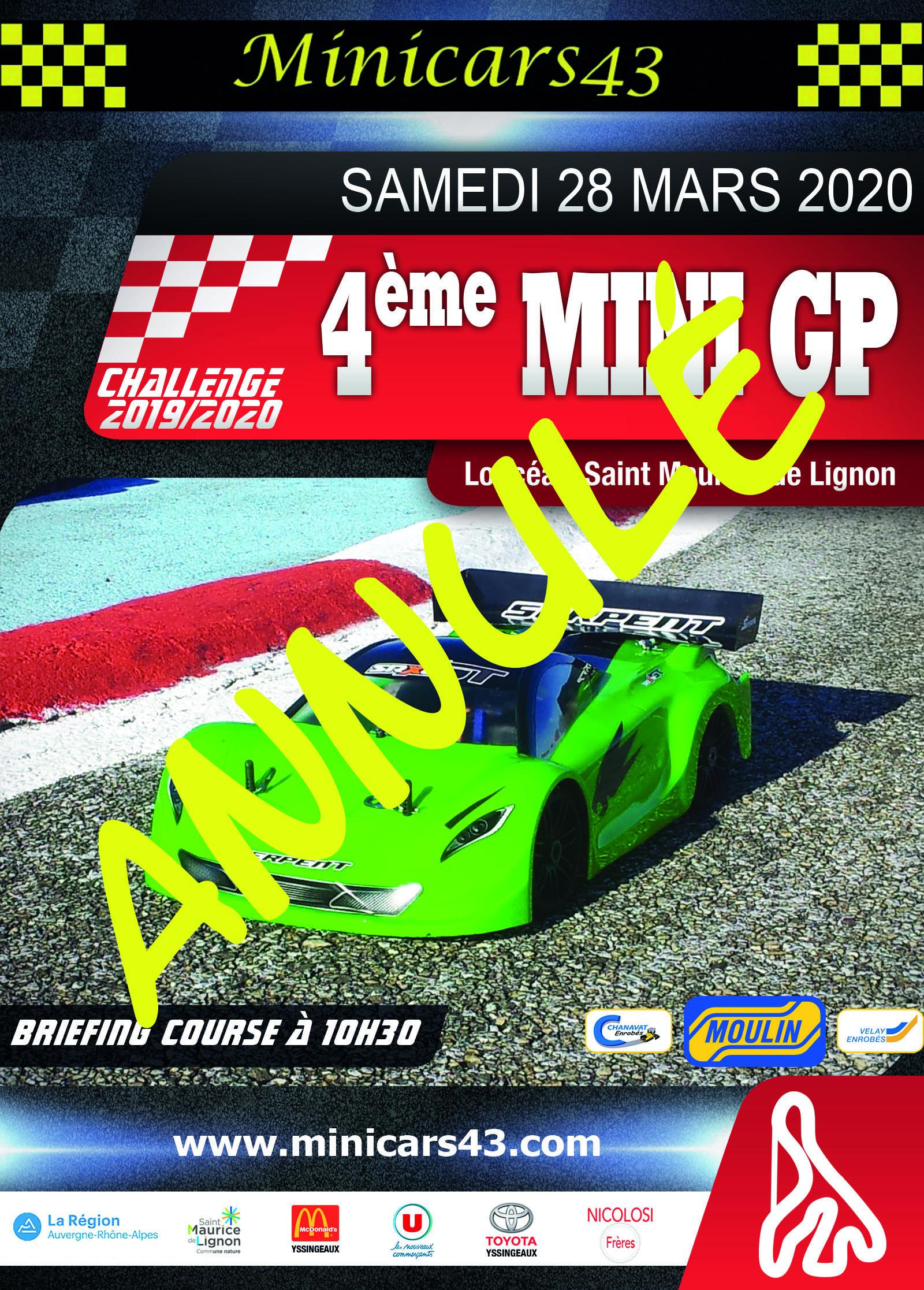 Affiche 4ème Mini GP 2019-20 annulé