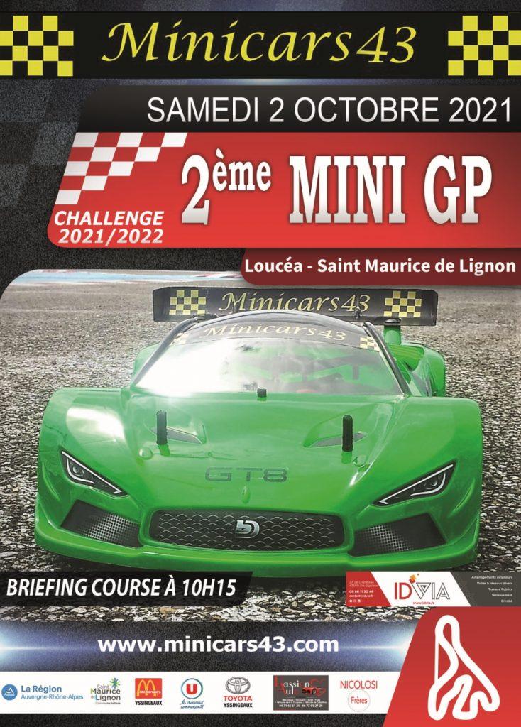 Affiche 2ème Mini GP 2021-22